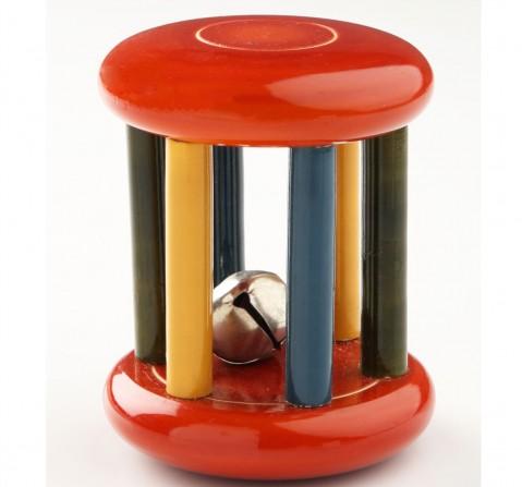 Ariro Wooden Rattle Small Tumbler Red, Unisex, 4M+(Multicolour)