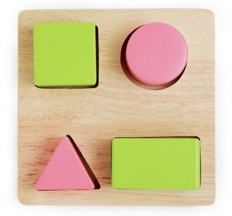 Ariro Wooden Puzzle Blocks, Unisex, 1Y+(Multicolour)