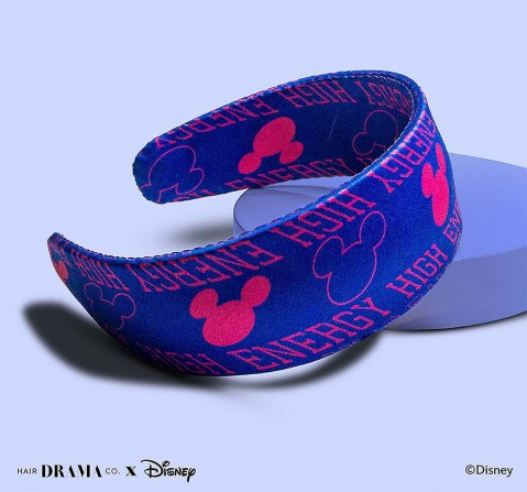 Hair Drama Company Disney Mickey Vibes Flatband(One Size), Girls, 9Y+(Blue)