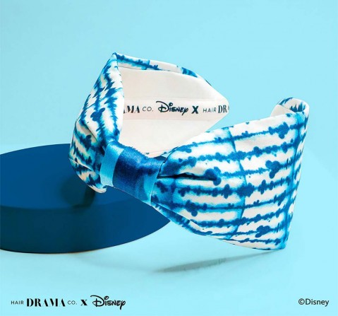 Hair Drama Company Disney Mickey Tie And Dye Knotted Headband(One Size), Girls, 9Y+(Blue)