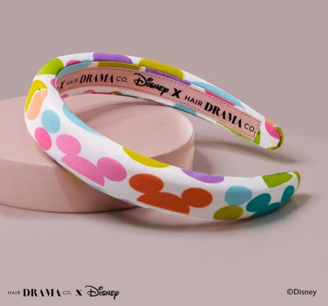 Hair Drama Company Disney Mickey For Days Puff Headband(One Size), Girls, 9Y+(Multicolor)