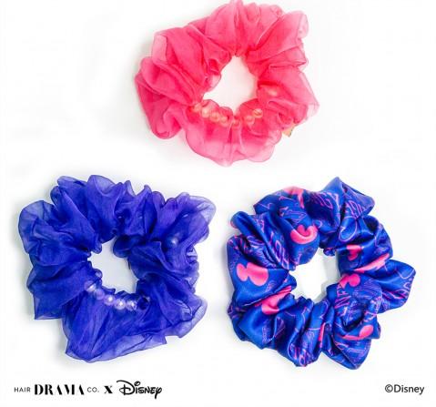 Hair Drama Company Disney Mickey Vibes Scrunchies Set Of 3(One Size), Girls, 9Y+(Blue)
