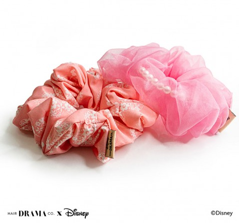 Hair Drama Company Disney Minnie Scrunchies Set Of 2(One Size), Girls, 9Y+(Pink)