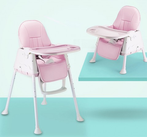 Polka Tots 4In1 High Chair Booster Seat, Unisex 0M+ (Pink)