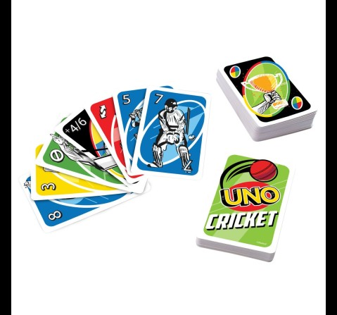 UNO Cricket Card Game for kids, 7Y+